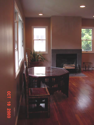 painting living room in New Rochelle, NY